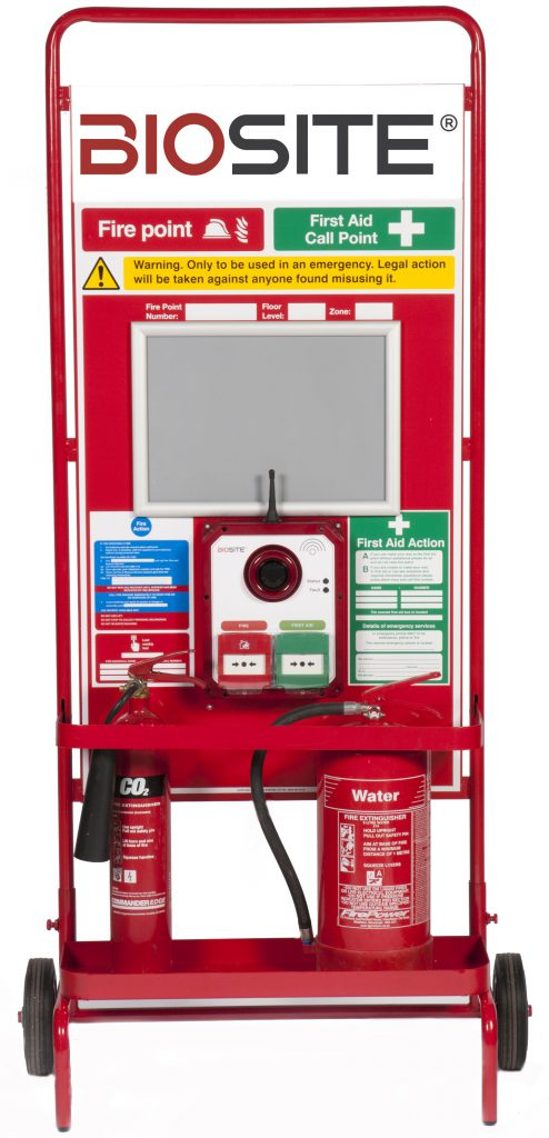 Biosite-wireless-Fire-Alarms-with-First-Aid-Call-Points-trolley